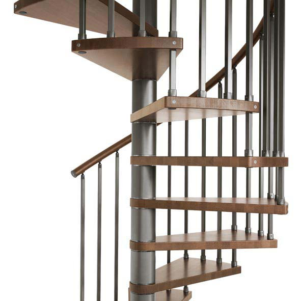 The genius 020 spiral by fontanot for Square spiral staircase