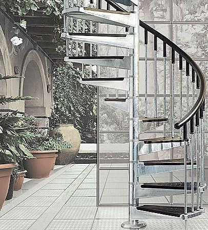 The Econ Exterior Spiral Staircase by Mobirolo